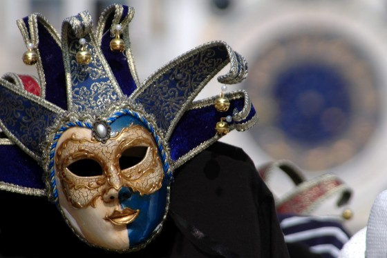 Venetian mask in piazza san marco