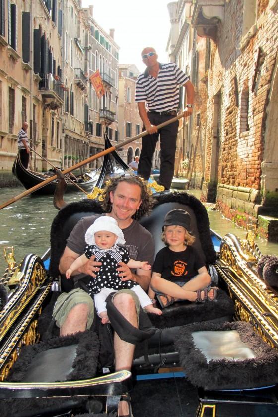 Gondola riding in Venice