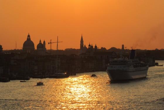 Sun setting on Venice