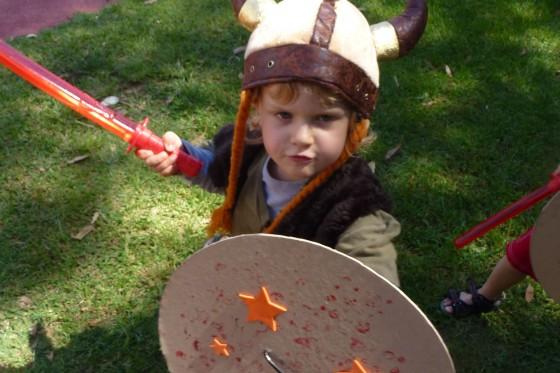 Four year old Viking Birthday Boy