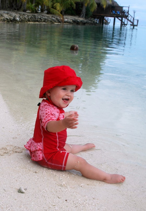 Sugarpuff in the lagoon at Aitutaki Lagoon Resort & Spa