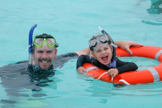 snorkelling in Aitutaki