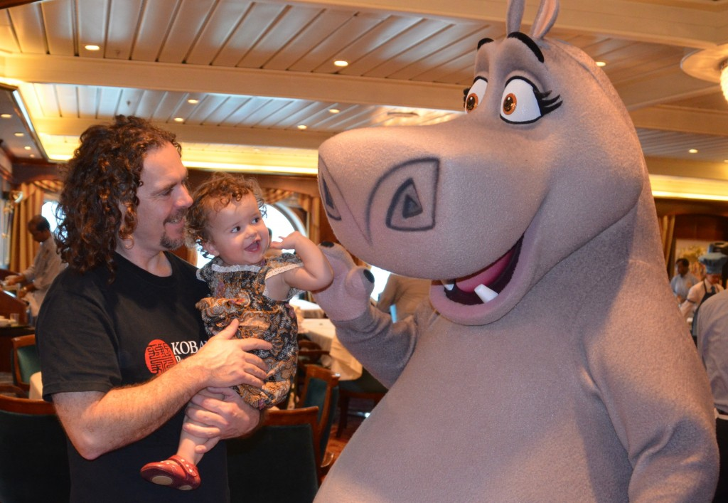 Gloria the hippo on Voyager of the Seas