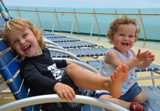 Happy kid son Voyager of the Seas