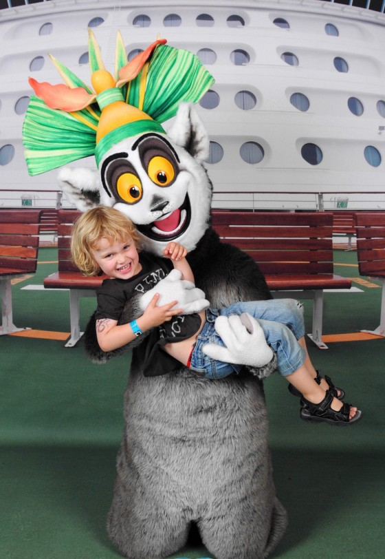 Raffles meets King Julien on Voyager of the Seas