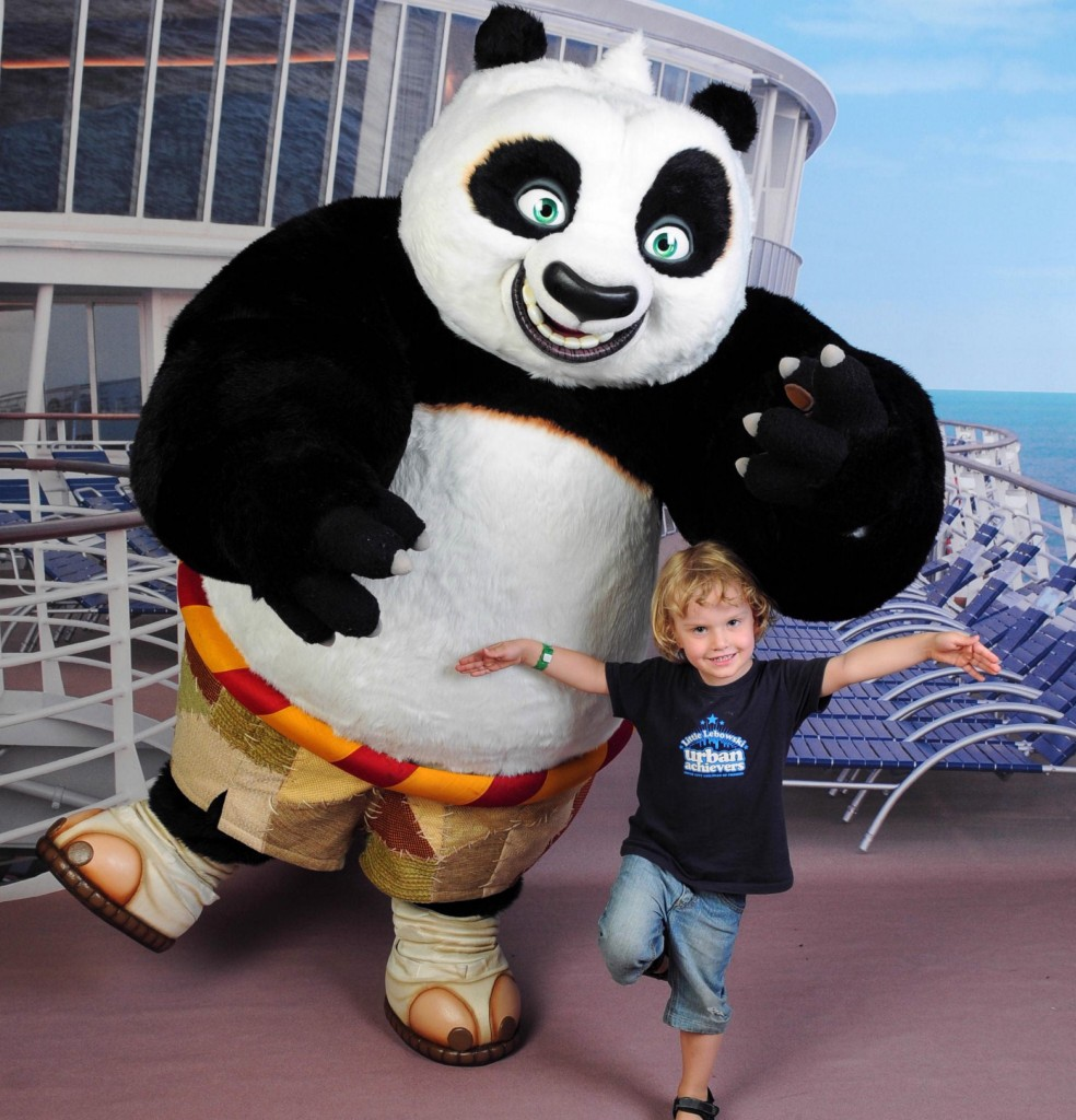 Kung Fu training with Po on Voyager of the Seas