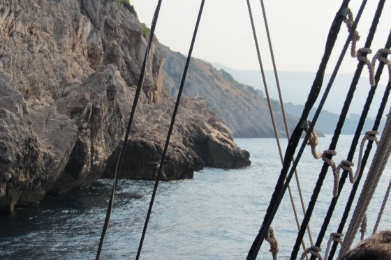 Sailing along the Dubrovnik Coast