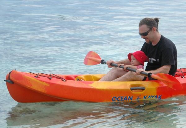 Kayaking in Rarotonga