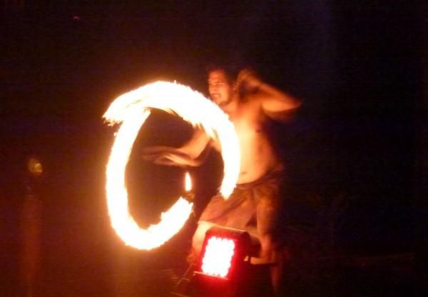 Te Vara Nui Cultural Village fire dancers