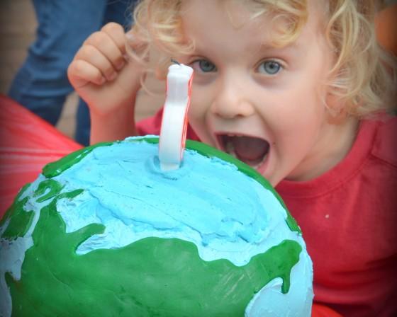 Boy eats world