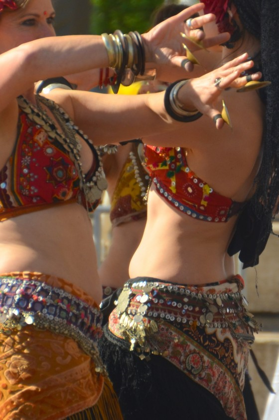 dancers at Holi