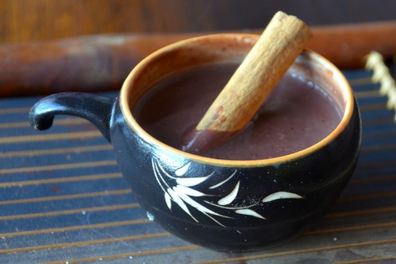 Mexican Hot chocolate with cardamom cinnamon and cilli