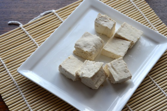 The finished product - our home made tofu