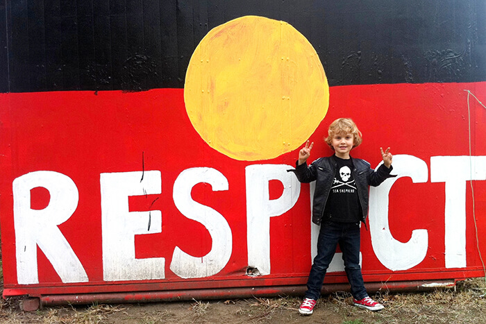 Respect: Aboriginal flag painted at Aboriginal Tent Embassy