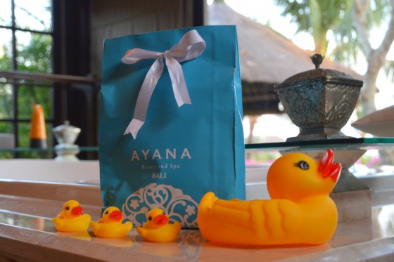 Rubber ducks at AYANA Resort and Spa with kids!