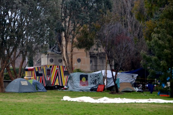 Koori Caravan - at Aboriginal Tent Embassy - Canberra