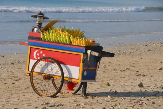 corn kart on the beach, Jimbaran