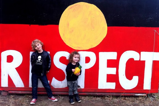 Kids at the Aboriginal Tent Embassy