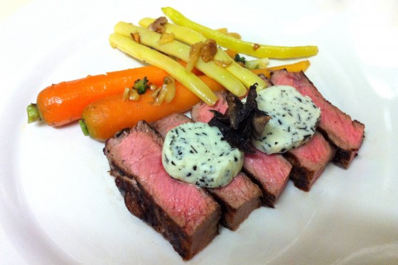 steak with truffle butter
