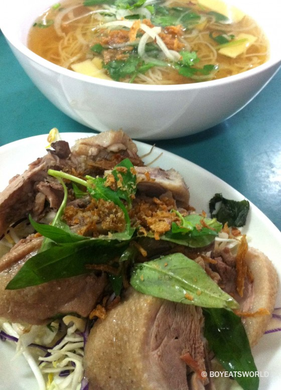 Duck and bamboo shoot noodle soup