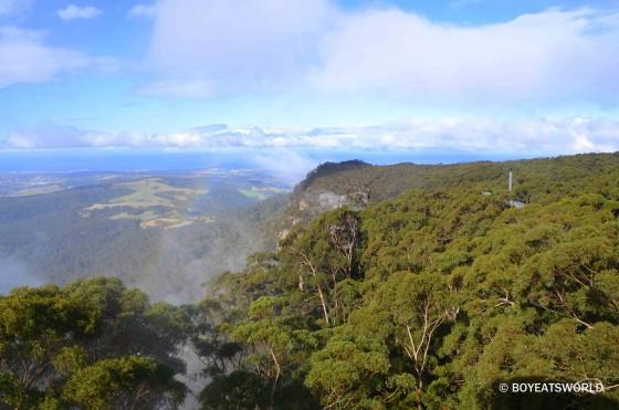 rainbow over the escarpment at Illawarra Fly