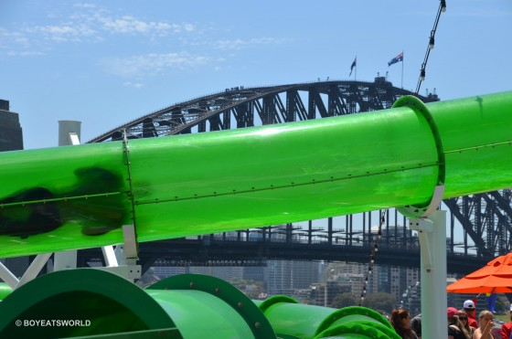 Shooting through Green Thunder on Carnival Spirit