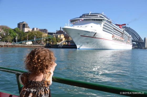 Arriving at Circular Quay to board Carnival Spirit