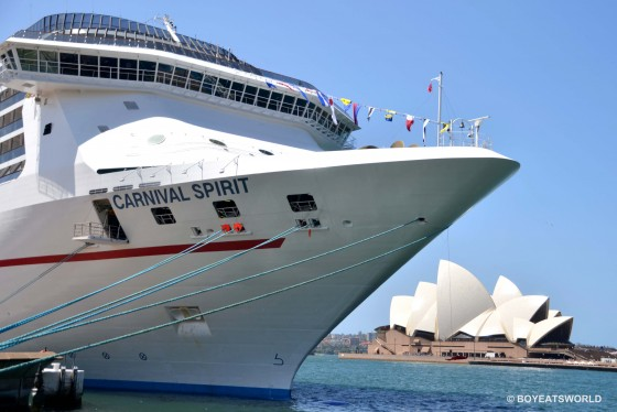 Carnival Spirit docked at Circular Quay