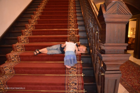 staircases in hotels can prove a temptation ot toddlers copy