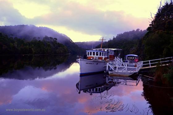 sunrise over the pieman river corinna