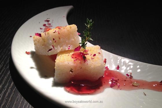 Glutinous Rice Cake with Rose Jam at China Republic World Square Sydney