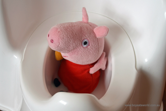 Peppa Pig in the potty