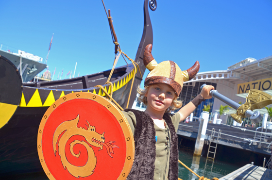 Raffles getting his Viking on at ANMM