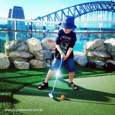 mini golf on Radiance of the Seas