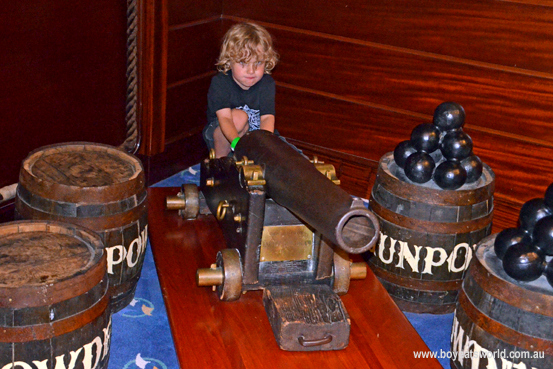 My little pirate fires up the cannons on Radiance of the Seas