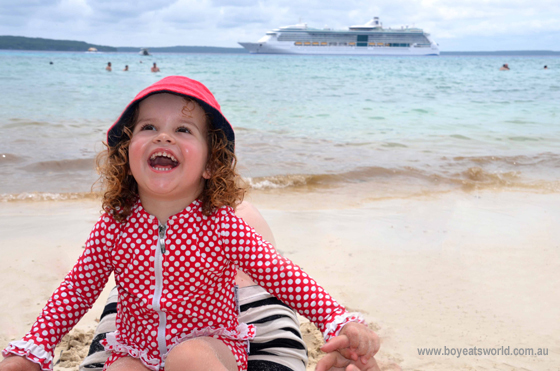 On Mystery Island with Radiance of the Seas