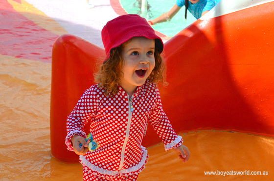 Sugarpuff in the kids pool on Radiance of the Seas