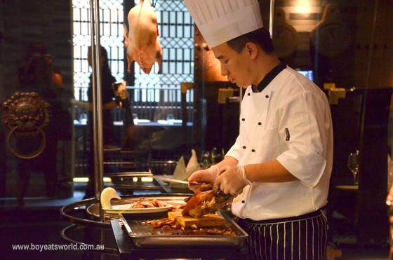 The Peking Duck chef at China Republic