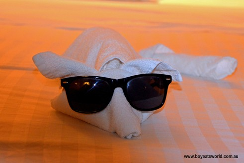 towel animals on Radiance of the Seas