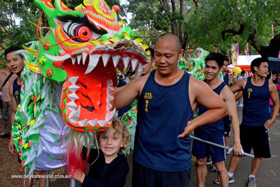 Raffles tames a dragon