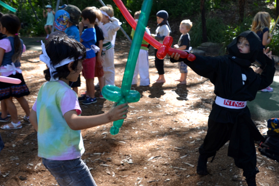 sword fight at the ninja party