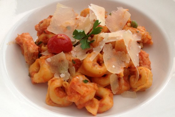 Barilla Tortellini with fish and prawns by Raffles