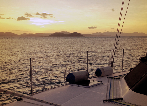Sunset in the Whitsundays