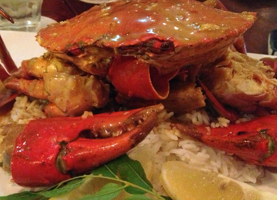 Thai Chilli crab at FIsh D'Vine