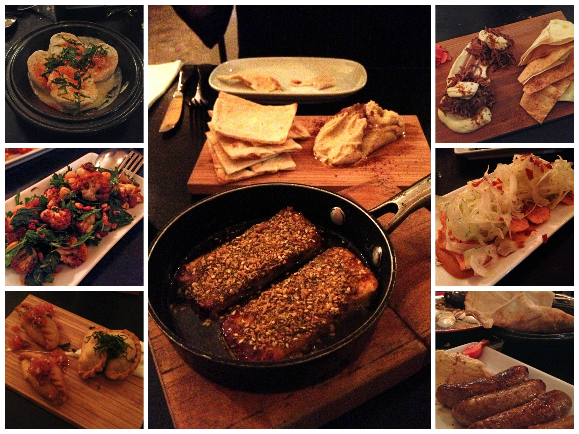 A few of the amazing dishes in Embers Mezze Bar's banquet