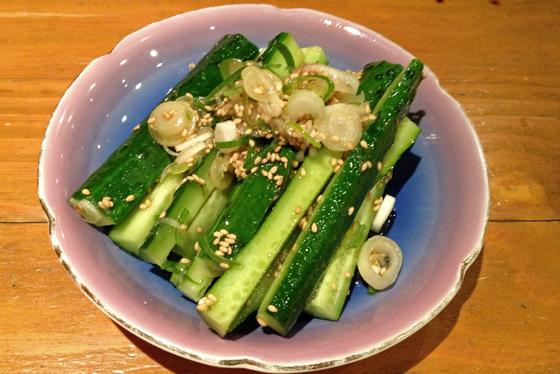 Cucumber in sesame. So darned good!