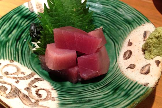 Mixed sashimi at an isakaya in Tokyo