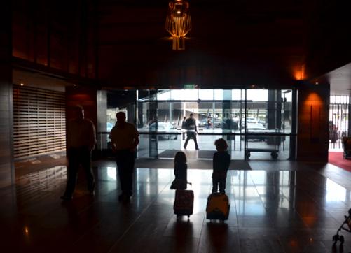 Checking out - Hilton South Wharf, Melbourne