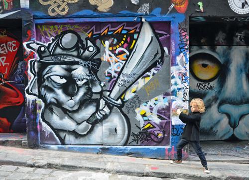 Raffles takes on the art in Hosier street