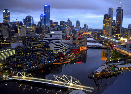 The view from our suite Hilton South Wharf, Melbourne